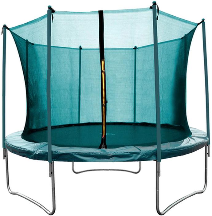 trampol ny aga sport fit trampol na 250 cm 8 ft s vnit n ochrannou s t skluzavky na zahradu. Black Bedroom Furniture Sets. Home Design Ideas